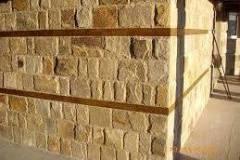 Поставяне на каменни облицовки Модерно предградие