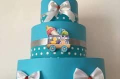 Подарък за бебе - торта от памперси Пловдив